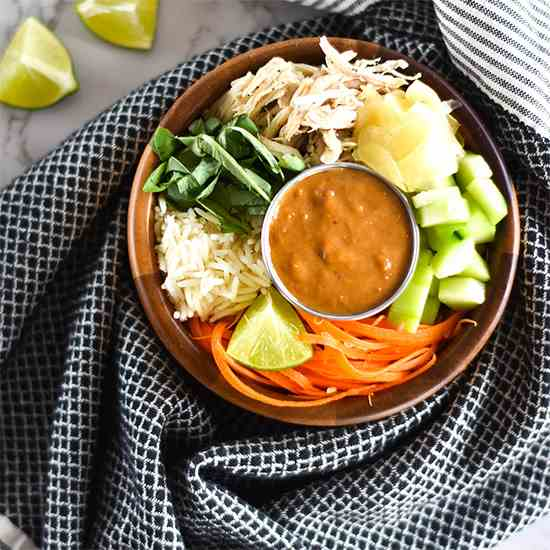 Thai Peanut Chicken Bowls