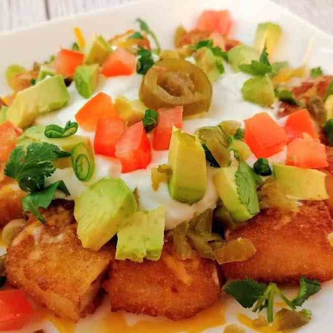 Air Fryer Fish Stick Nachos