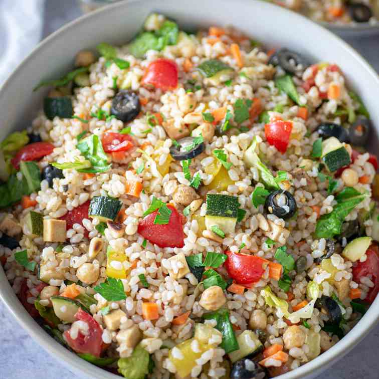 Healthy Italian Rice Salad