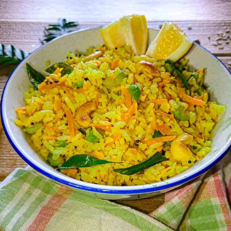 Lemon rice recipe with brown rice