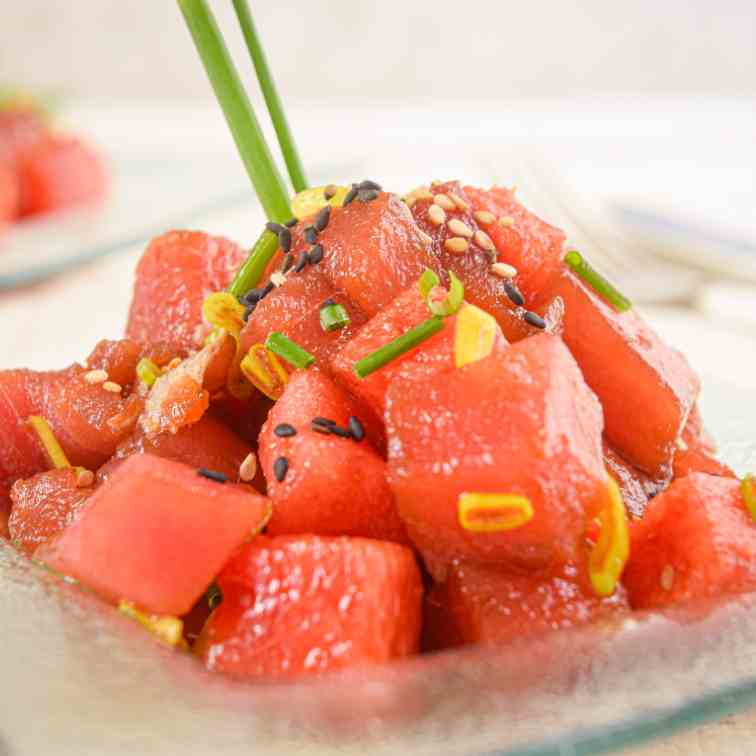 Tuna and Watermelon Tartare