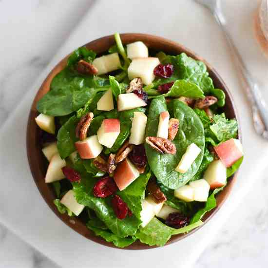 Paleo Fall Apple Pecan Salad