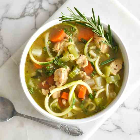 Paleo Chicken -Noodle- Soup