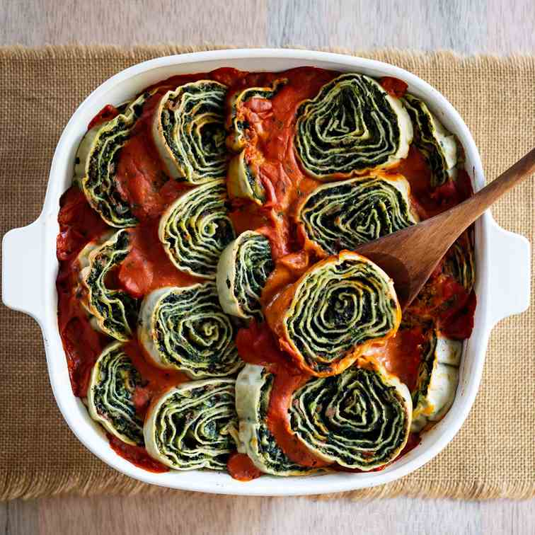 Spinach and Ricotta Rotolo
