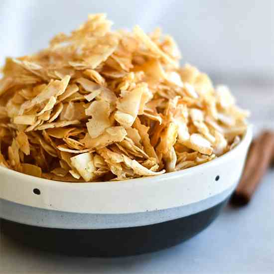 Paleo Pumpkin Spice Coconut Chips