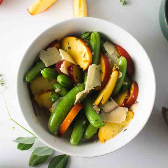 Peach and Snap Pea Salad