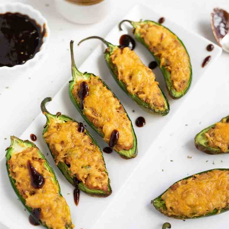 Cheesy Samosa Jalapeno Poppers