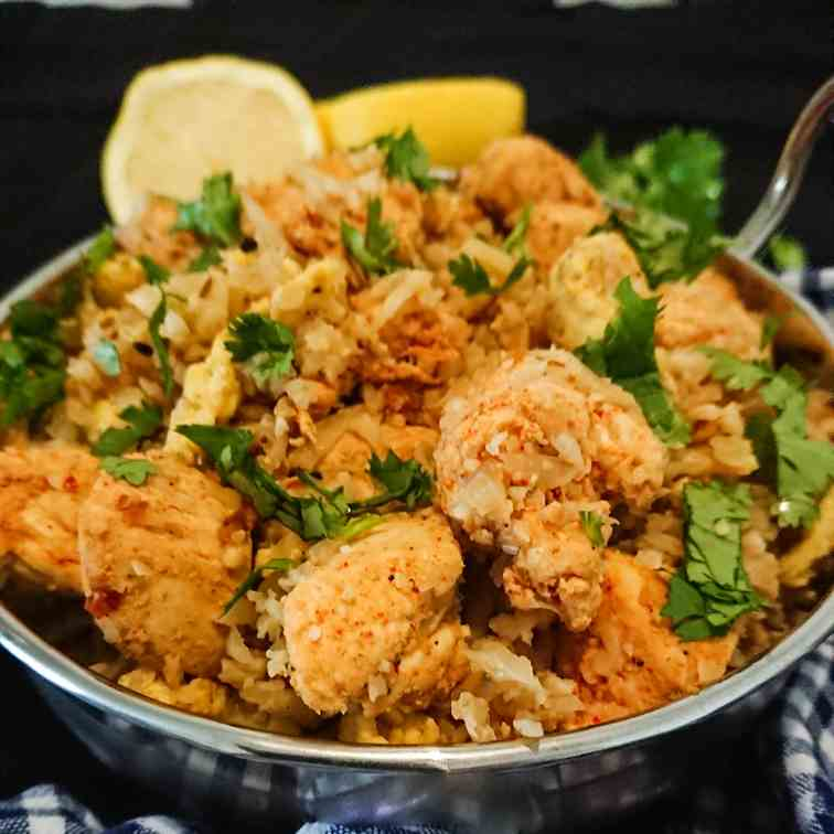 Masala chicken cauliflower rice