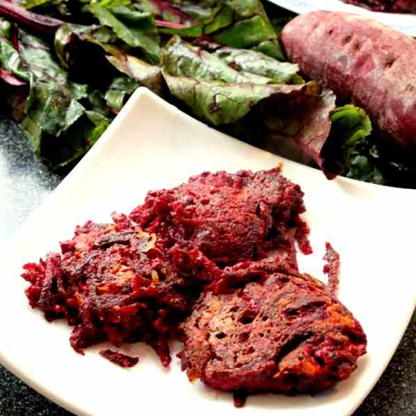 Beetroot and Sweet Potato Patties